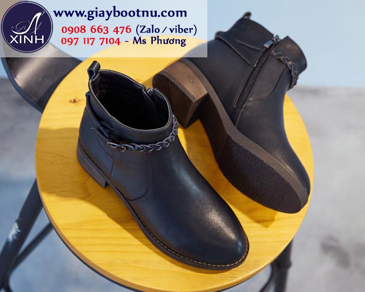 Giày boot nữ cổ ngắn xinh xắn đi bộ GBN169