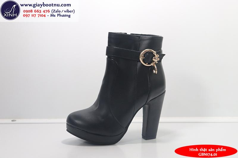 Giày boot nữ cổ ngắn hiện đại sành điệu GBN17401