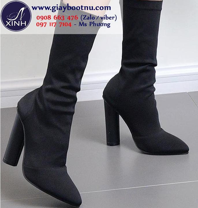 Giày boot nữ cổ lửng hiện đại mẫu giày ĐANG HOT GBN177