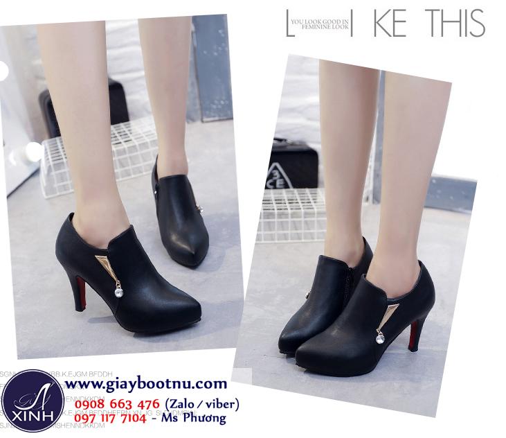 Giày boot nữ cổ sâu sành điệu cho nàng chân ngắn GBN17901