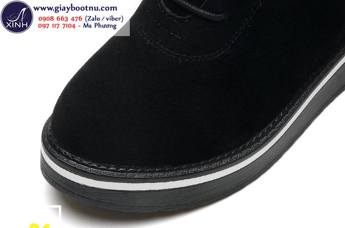 Giày boot nữ cổ ngắn độn đế xinh xắn GBN19401
