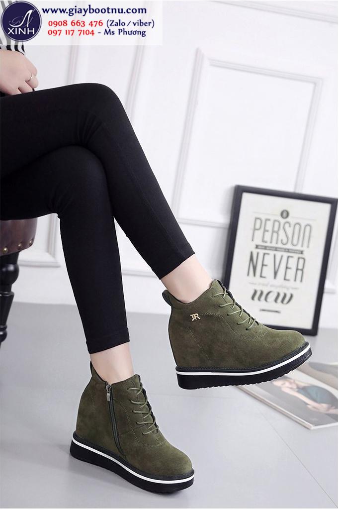 Giày boot nữ cổ ngắn độn đế xinh xắn GBN19402