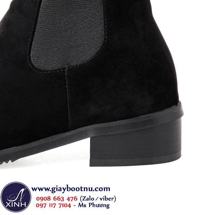 Chelsea boot cổ ngắn nữ da lộn GBN20001