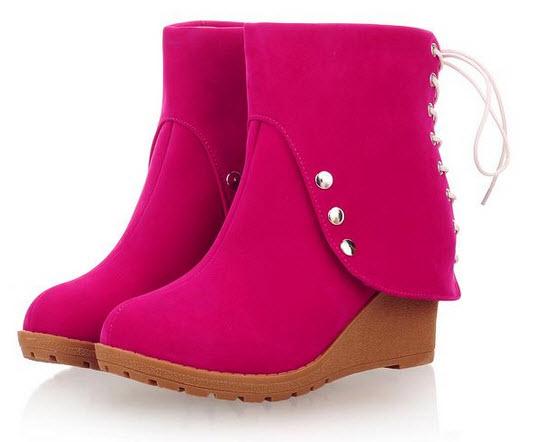 Giày boot nữ da lộn