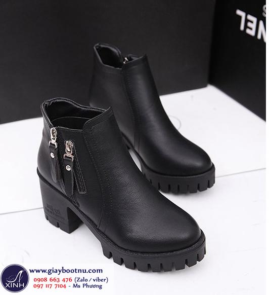 Giày boot nữ cổ ngắn đế bảng sành điệu GBN0201