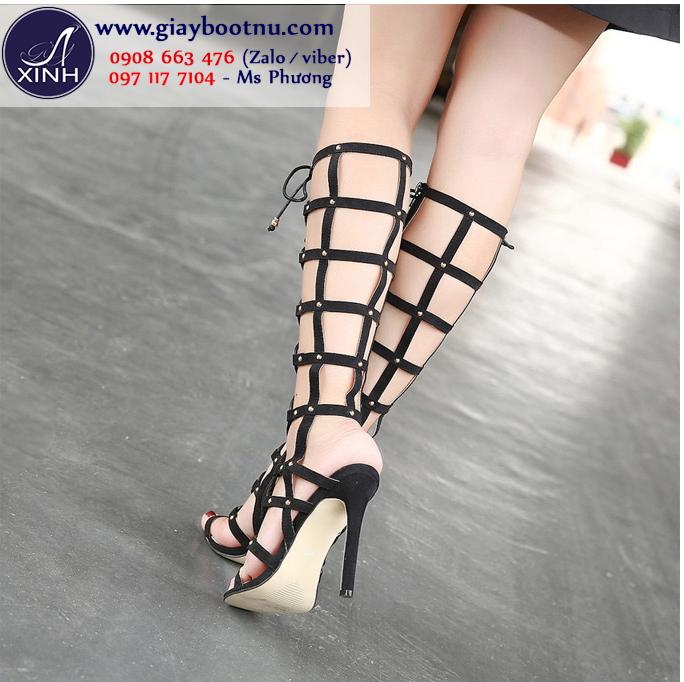 Giày Sandal cổ cao đan dây sành điệu GBN140