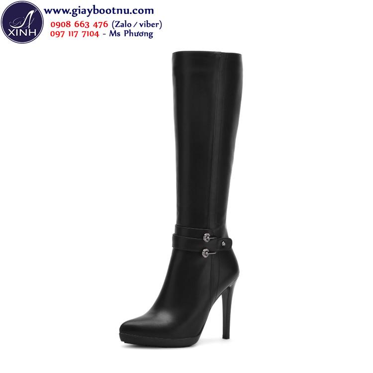 Giày boot nữ ống cao dưới gối gót nhọn GCC34